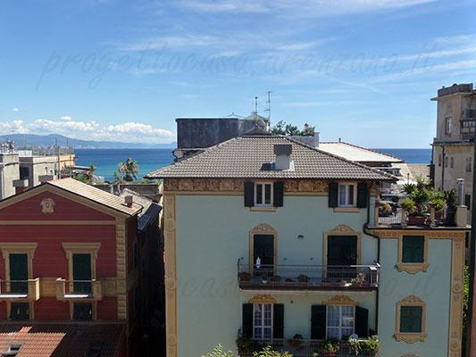 Appartamento Arenzano centro con scorci mare